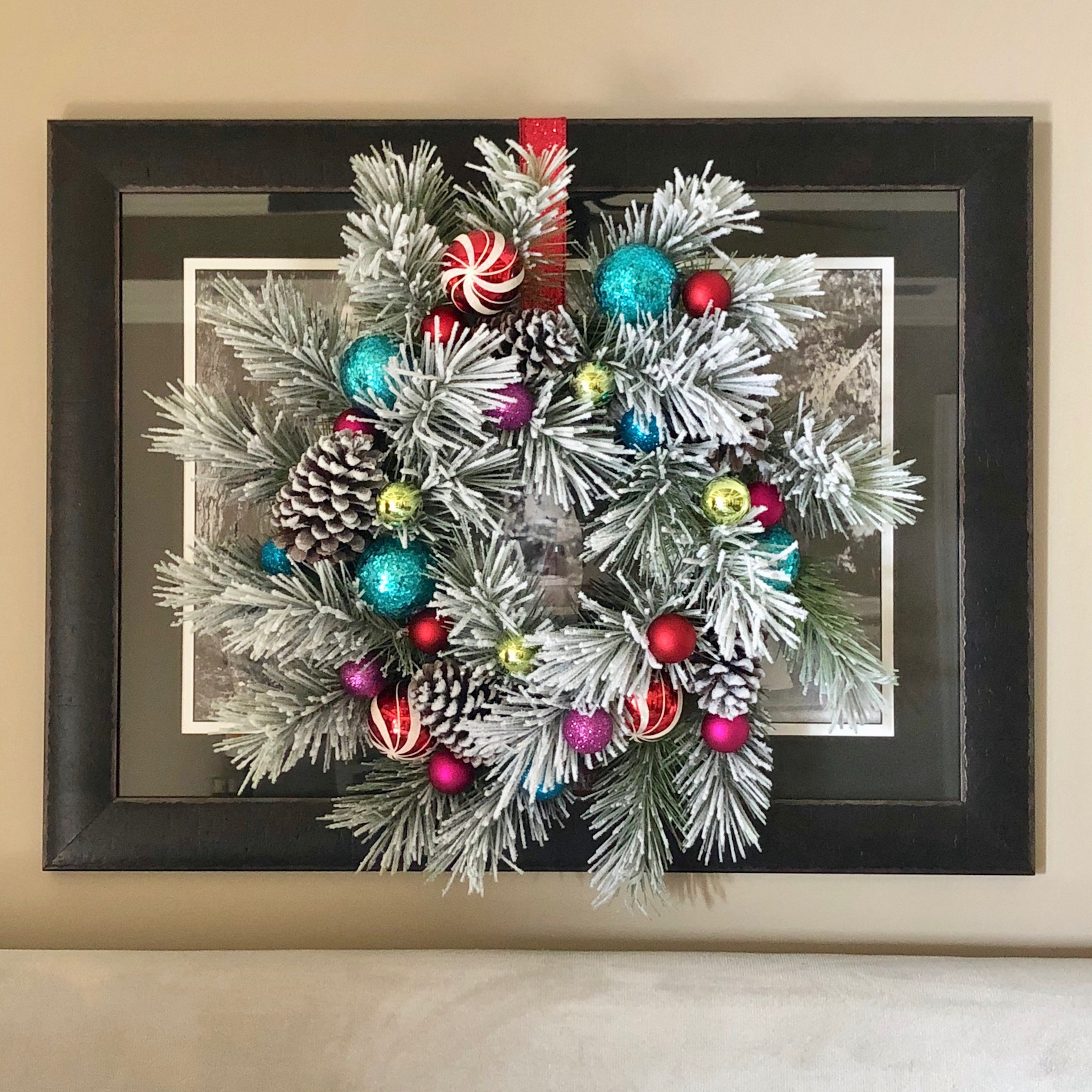 Christmas Wreath, done by me!