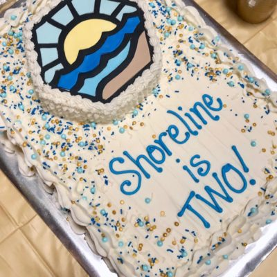 a birthday and a baptism: shoreline update
